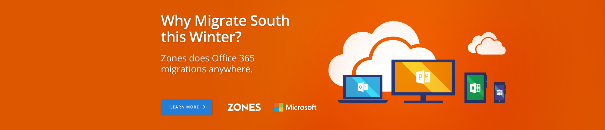 Why Migrate South this Winter? Zones does Office 365 migrations anywhere.