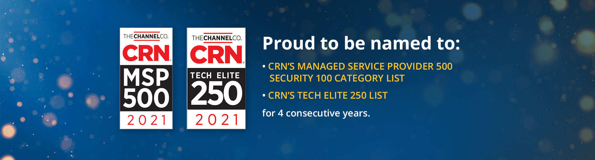 2021 CRN Awards: MSP 500 and Tech Elite 250 Winner