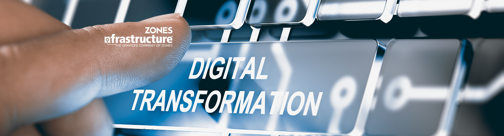 At your service. No matter where you are in your digital transformation, Zones nfrastructure is always ready to serve.