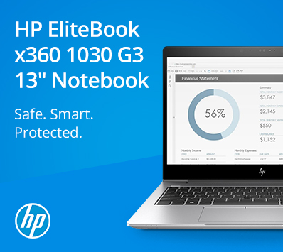 HP EliteBook x360 1030 G3 13in Notebook: Safe. Smart. Protected.