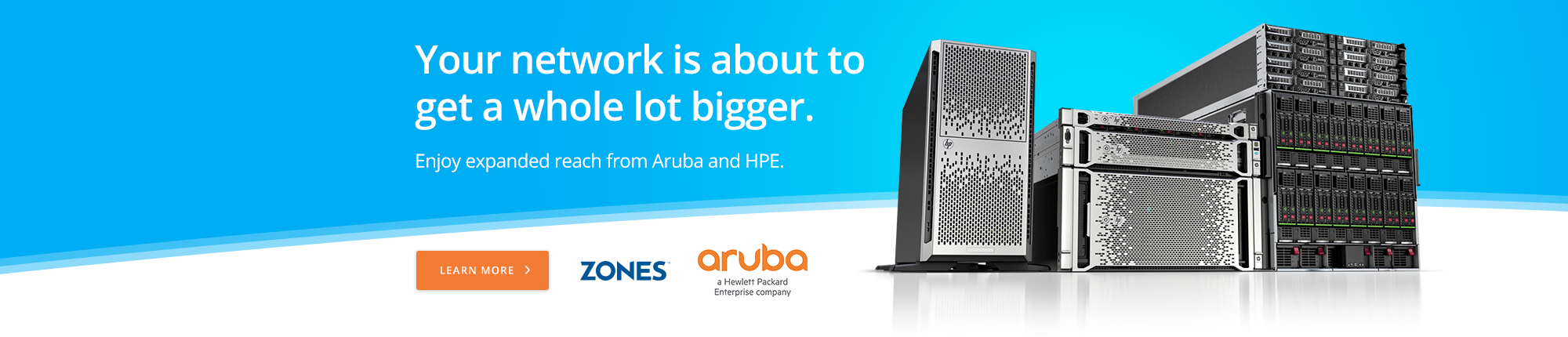 Your network is about to get a whole lot bigger. Enjoy expanded reach from Aruba and HPE.