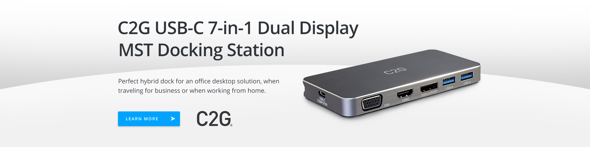 C2G USB-C 7-in-1 Dual Display MST Docking Station
