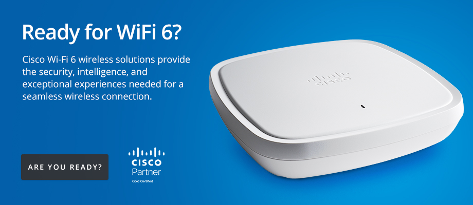 Cisco Wi-Fi 6 wireless solutions provide the security, intelligence, and exceptional experiences needed for a seamless wireless connection