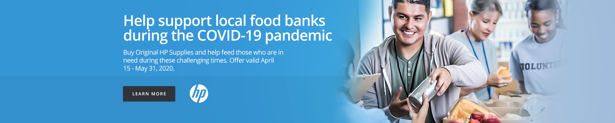 HP Supplies: Help support local food banks during the COVID-19 pandemic