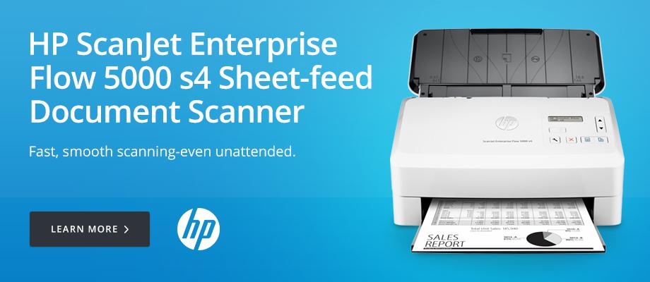 HP ScanJet Enterprise Flow 5000 s4 Sheet-feed Document Scanner