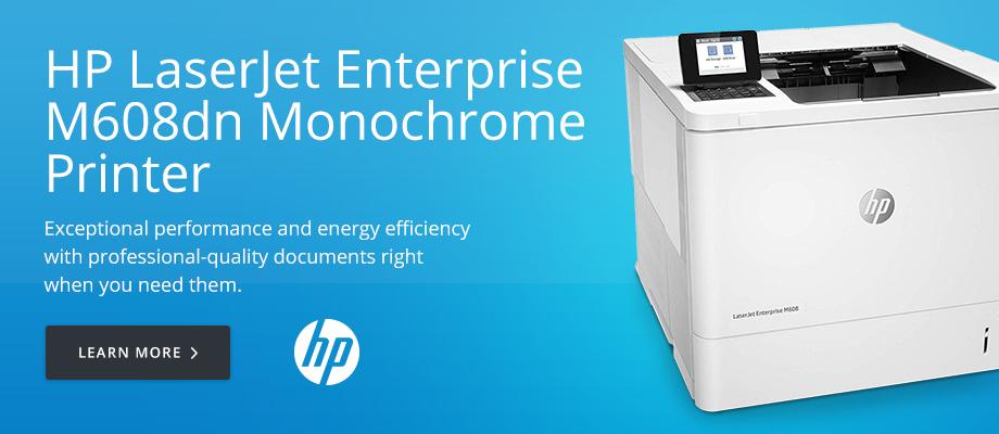 HP LaserJet Enterprise M608dn Monochrome Printer