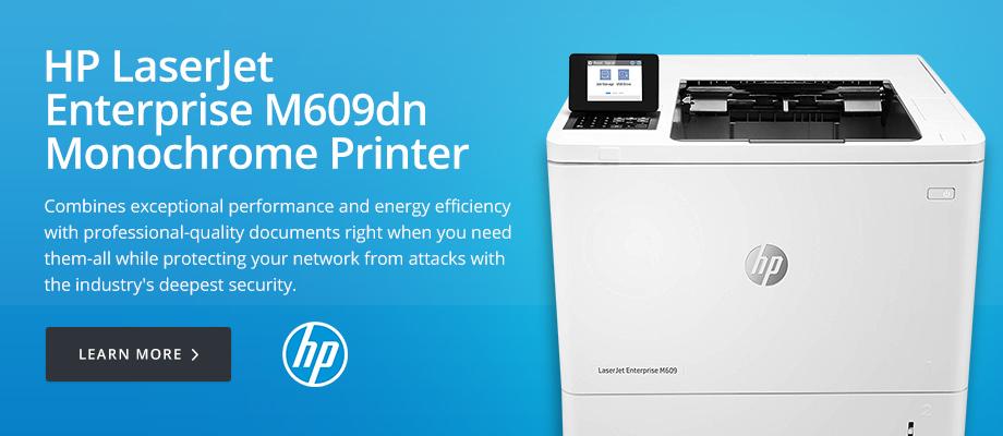 HP LaserJet Enterprise M609dn Monochrome Printer