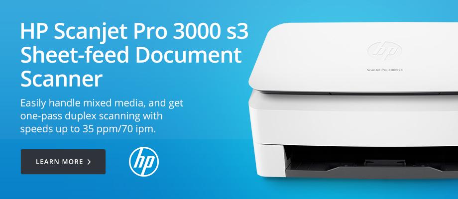 HP Scanjet Pro 3000 s3 Sheet-feed Document Scanner