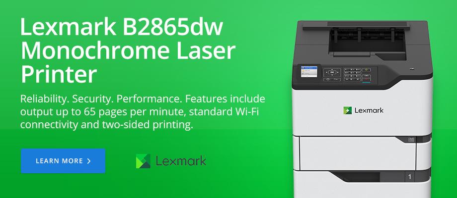 Lexmark B2865dw Monochrome Laser Printer