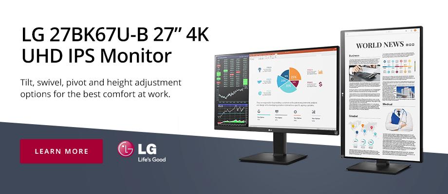 LG 27BK67U-B 27in 4K UHD IPS Monitor