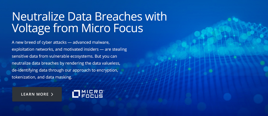 Neutralize Data Breaches with Voltage from Micro Focus