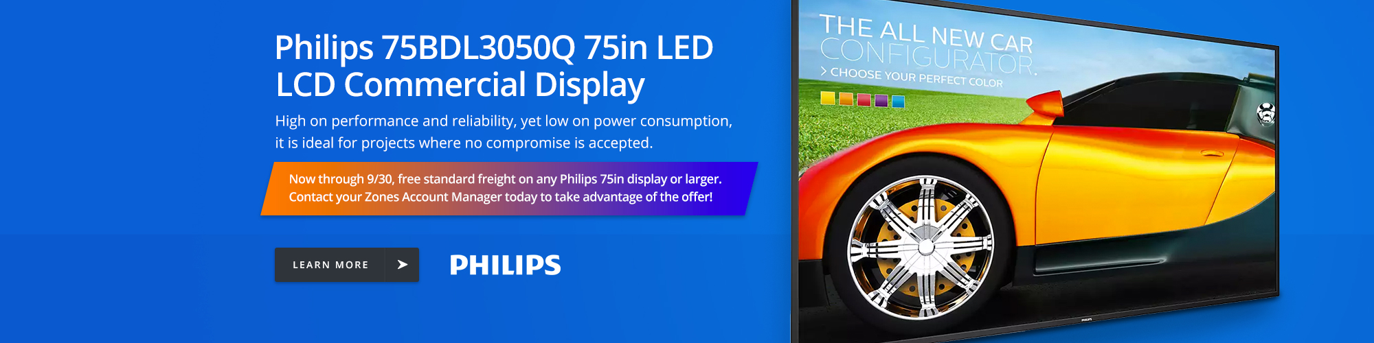 Philips 75BDL3050Q 75in LED LCD Commercial Display