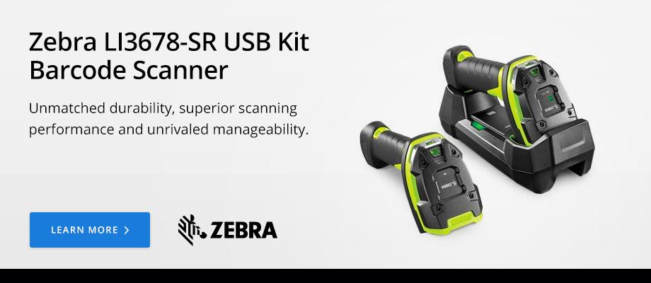 Zebra LI3678-SR USB Kit Barcode Scanner