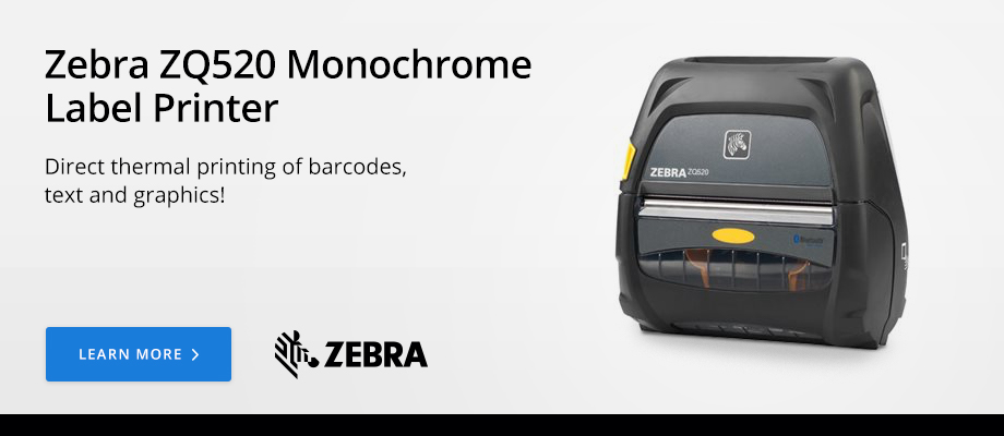 Zebra ZQ520 Monochrome Label Printer