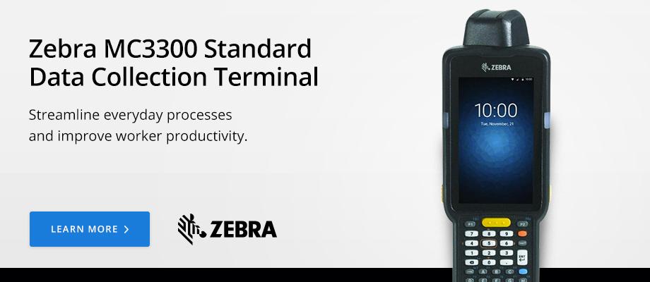 Zebra MC3300 Standard Data Collection Terminal