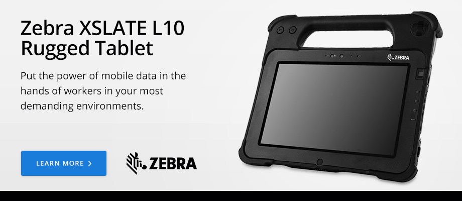 Zebra XSLATE L10 Rugged Tablet