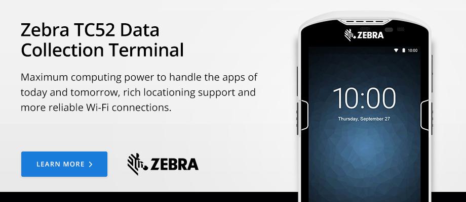 Zebra TC52 Data Collection Terminal