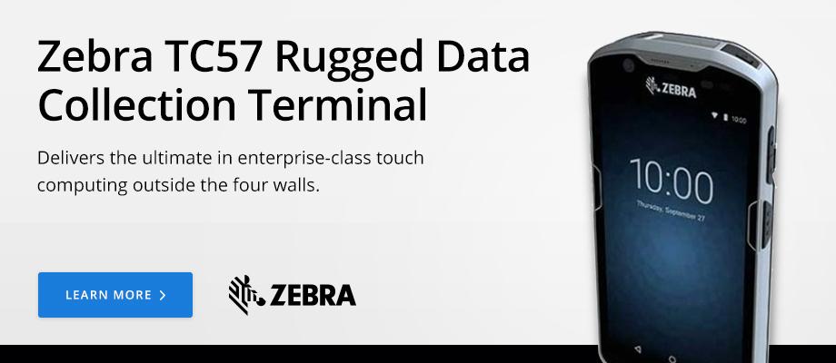 Zebra TC57 Rugged Data Collection Terminal