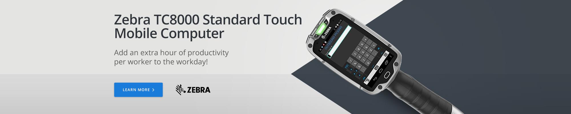 Zebra TC8000 Standard Touch Mobile Computer
