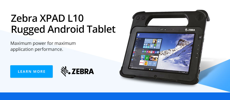 Zebra XPAD L10 Rugged Android Tablet