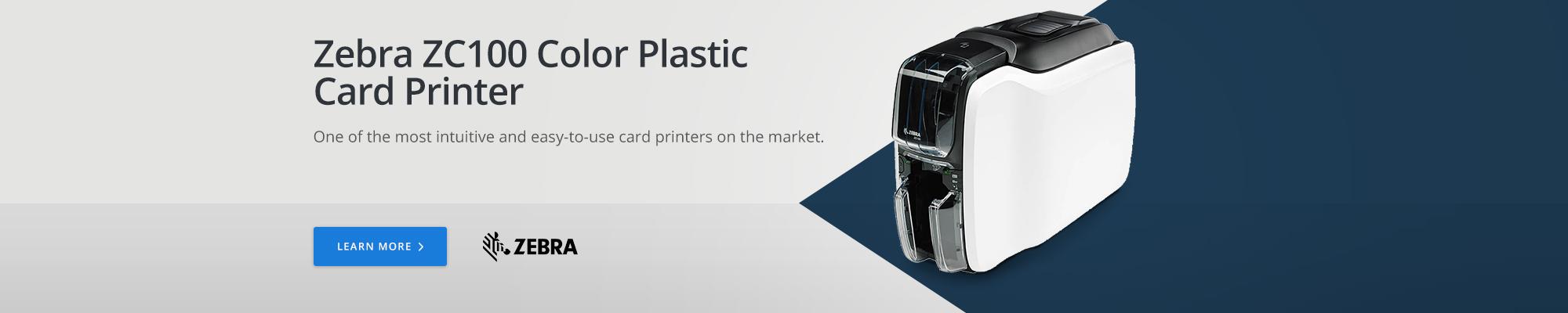 Zebra ZC100 Color Plastic Card Printer