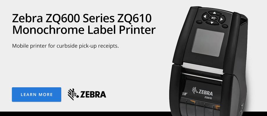 Zebra ZQ600 Series ZQ610 Monochrome Label Printer