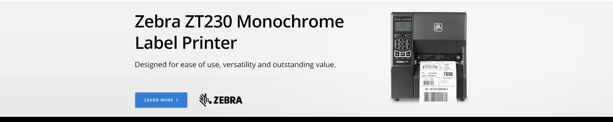 Zebra ZT230 Monochrome Label Printer