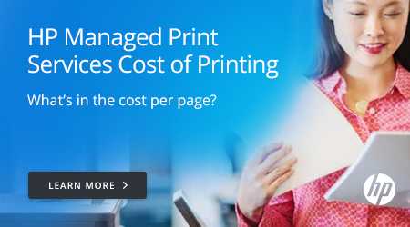 HP Managed Print Services Cost of Printing