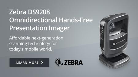 Zebra DS9208 Omnidirectional Hands-Free Presentation Imager