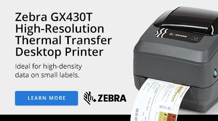 Zebra GX430T High-Resolution Thermal Transfer Desktop Printer
