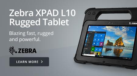 Zebra XPAD L10 Rugged Tablet