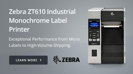 Zebra ZT610 Industrial Monochrome Label Printer