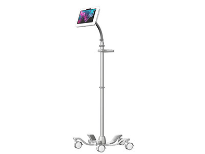 AgileGo Rolling Tablet Cart with VESA Gooseneck Quick Connecting Arm