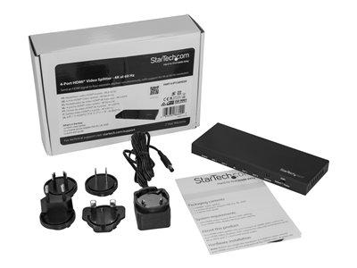StarTech com HDMI Splitter - 4 Port - HDMI Splitter 1 In 4