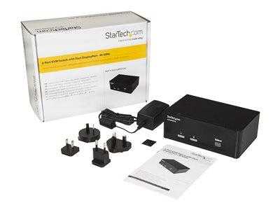 StarTech 2 Port DisplayPort Dual Monitor KVM Switch