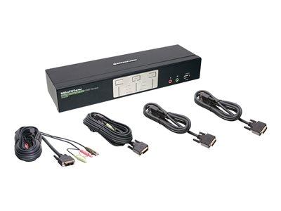 IOGEAR GCS1642 2 Port Dual View Link DVI KVMP Switch With Audio