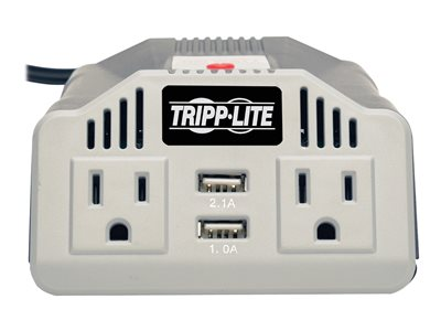 Tripp Lite Ultra Compact Car Inverter 400w 12v Dc To 120v Ac 2 Ubs Charging Ports Outlets Battery Charger 400 Watt