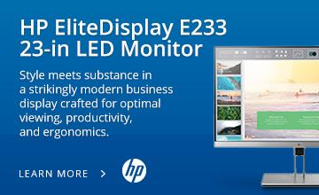 HP EliteDisplay E233 23-in LED Monitor