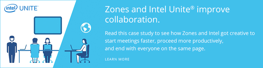 Zones and Intel Unite improve collaboration. Learn more.