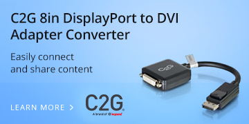 C2G 8in DisplayPort to DVI Adapter Converter