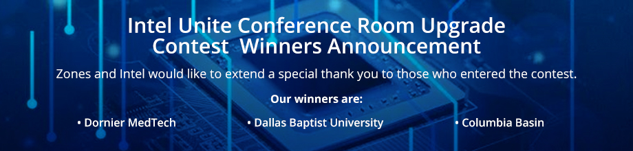 Intel Unite Conference Room Upgrade Contest Winners Announcement